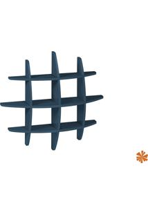 Prateleira Taylor Hashtag Média Mdf Azul Oceano 598-0505 - 90X90X14 Cm
