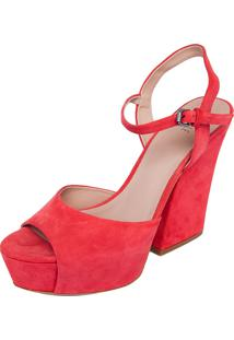 Sandália Animale Suede Color Coral