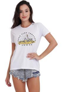 Camiseta Basica Joss Good Time Branca Dtg