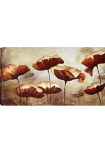 Quadro Flores Marrom 55X100Cm