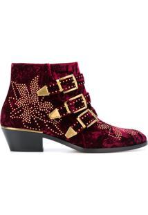 Chloé Ankle Boot 'Susanna' - Vermelho