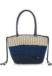 Bolsa Praia Com Amarracao Azul - M