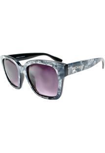Óculos De Sol Mackage Feminino Acetato Oversize Gateado Retrô - Cinza Marmorizado
