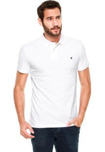 Camisa Polo Malwee Bordado Branca