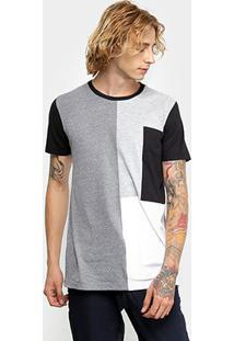 Camiseta Colcci Recortes Masculina - Masculino