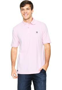 Camisa Polo Mr Kitsch Manga Curta Basic Rosa