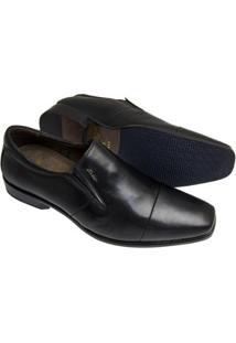 Sapato Social Sândalo Premium Elástico - Masculino-Preto