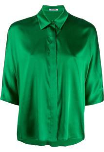 Styland Blusa Com Abotoamento - Verde