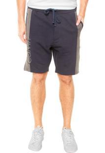 Bermuda Calvin Klein Jeans Descolado Azul