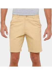 Bermuda Bluebay Sarja Chino Color Bolso Faca Reta Masculina - Masculino