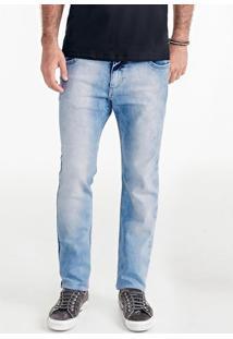 Calça Masculina Em Jeans Skinny Com Efeito Denim
