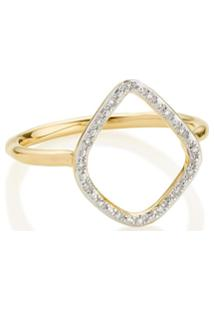 Monica Vinader Gp Riva Diamond Hoop Ring - Dourado