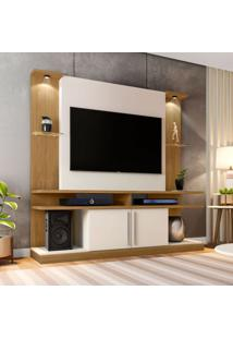 Estante Para Home Theater E Tv 60 Polegadas York Cinamomo E Off White