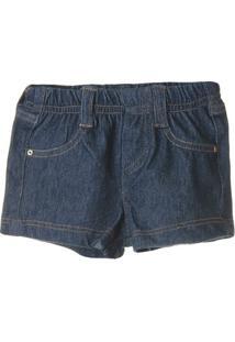 Short Jeans Feminino - Feminino-Marinho