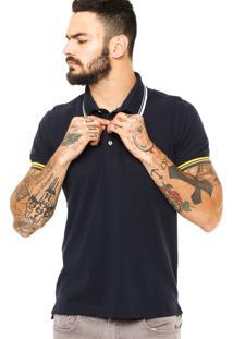 Camisa Polo Sergio K Listras Azul-Marinho