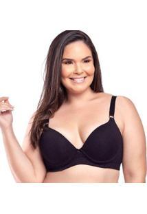 Sutiã Econfort Plus Size Em Algodão Linha Gloss Bojo Liso Feminino - Feminino