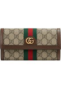Gucci Carteira 'Ophidia Gg' Grande - Neutro
