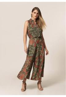 Calça Mob Pantacourt Estampa Cashmere Estampado - Feminina - Feminino