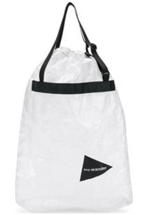 And Wander Bolsa Tote Com Estampa De Logo Stuffsack - Branco