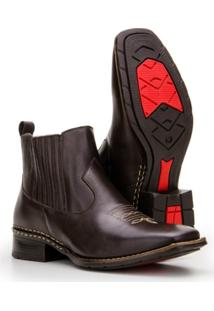 Bota Texana Country Capelli Boots Em Couro Cano Curto Masculina - Masculino