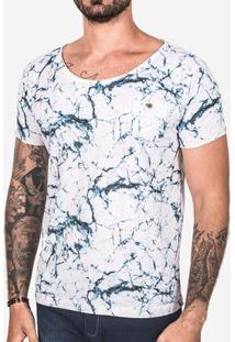 Camiseta Hermoso Compadre Marble Masculina - Masculino-Azul