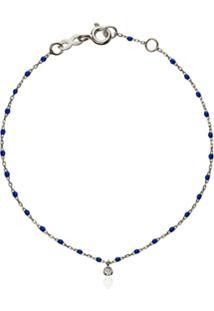Gigi Clozeau Pulseira Wg Ouro Branco Com Diamante - Azul