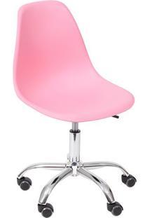Cadeira Eames Dkr- Rosa Claro & Prateada- 93X47X41Cmor Design