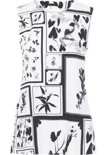 Regata Sleeveles Floral Osklen - Off White