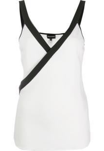 Emporio Armani Blusa Transpassada - Branco