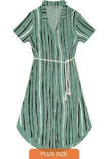 Vestido Plus Size Midi Verde