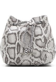 Bolsa Anacapri Cobra Branca