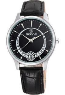 Relógio Skone Analógico 9242Bg - Preto