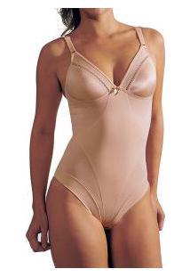Body Modelador Cetinete Leann/Disfarce (3195) Até O Tamanho 56!