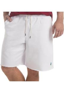 Bermuda Moletom Zaiden Vi Masculina - Masculino-Branco