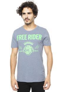 Camiseta Colcci Free Rider Cinza