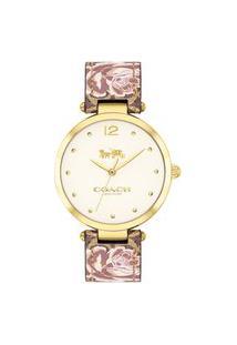 Relógio Coach Feminino Couro Marrom - 14503178