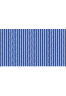 Papel De Parede Listrado Azul 52Cm X 10M Vinílico Revex