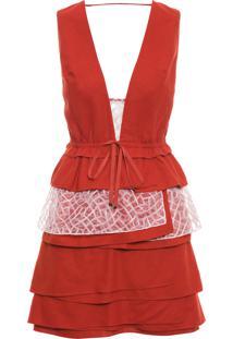 Vestido Layers - Laranja