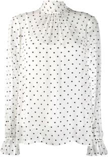 Zimmermann Blusa Com Poás - Branco