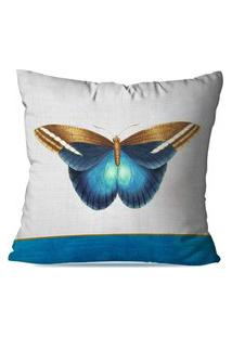 Capa De Almofada Avulsa Decorativas Butterfly 35X35Cm