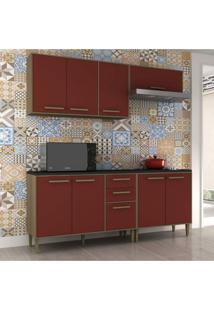 Cozinha Completa 4 Peças 8 Portas Vitória Siena Móveis