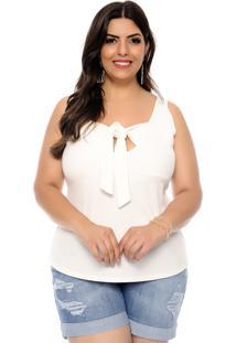 5ae1407f857bbd Blusa Marileti Plus Size Julia Off White
