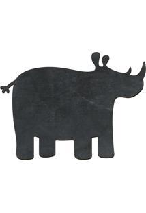 Quadro Decorativo Lousa De Giz Rinoceronte- Preto- 2Cia Laser