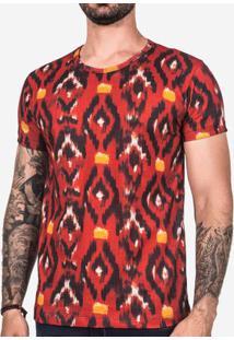 Camiseta Étnica Vermelha 102445