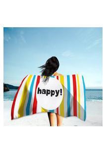 Toalha De Praia / Banho Happy! Único