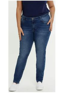 Calça Jeans Skinny Feminina Bolsos Plus Size Razon