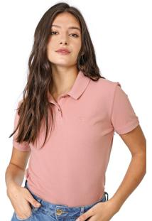 Camisa Polo Carmim Caliman Rosa