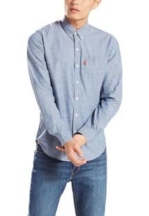 Camisa Levis Classic One Pocket Azul Claro Azul