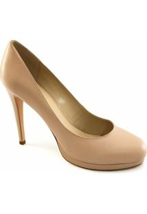 Scarpin Bico Redondo Sapato Show - Feminino-Nude