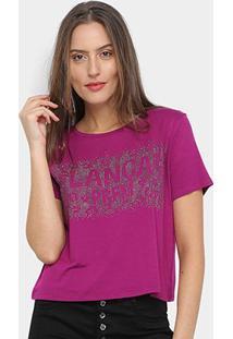 Camiseta Lança Perfume Hot Fix Feminina - Feminino-Roxo